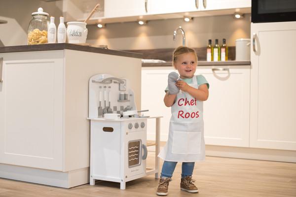 Houten Keuken Kind : Bandits angels chef deluxe white kinderkeuken