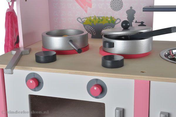 Janod Keuken Roze : Verschillende knoppen om de oven te bedienen.