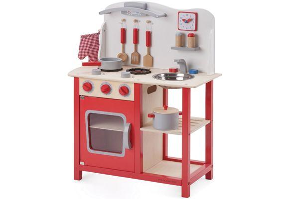 Houten Keuken Kind : Kinderkeuken.nl new classic toys bon appetit rood