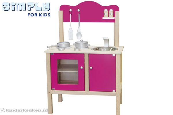 Wasbak Keuken Monteren : Roze kinderkeuken van Simply for kids.