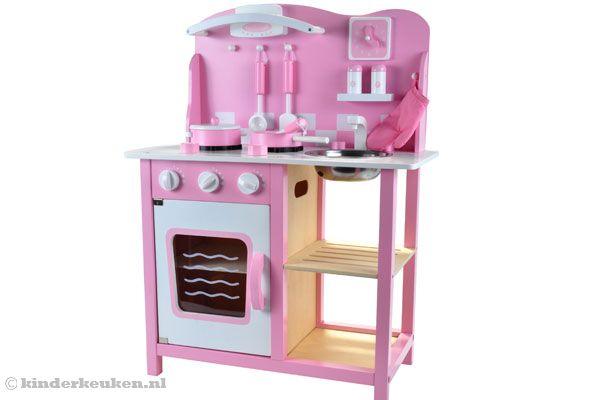 Keuken Accessoires Kinderkeuken : Home -> Kinderkeuken -> Woodtoys -> Houten keuken roze