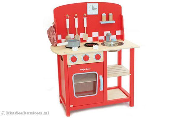Keuken Accessoires Kinderkeuken : Home > Kinderkeuken > Woodtoys > Kitchenette rood